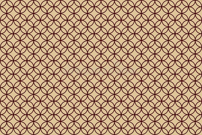Overlapping circle illustration patterns on cream background royalty free illustration