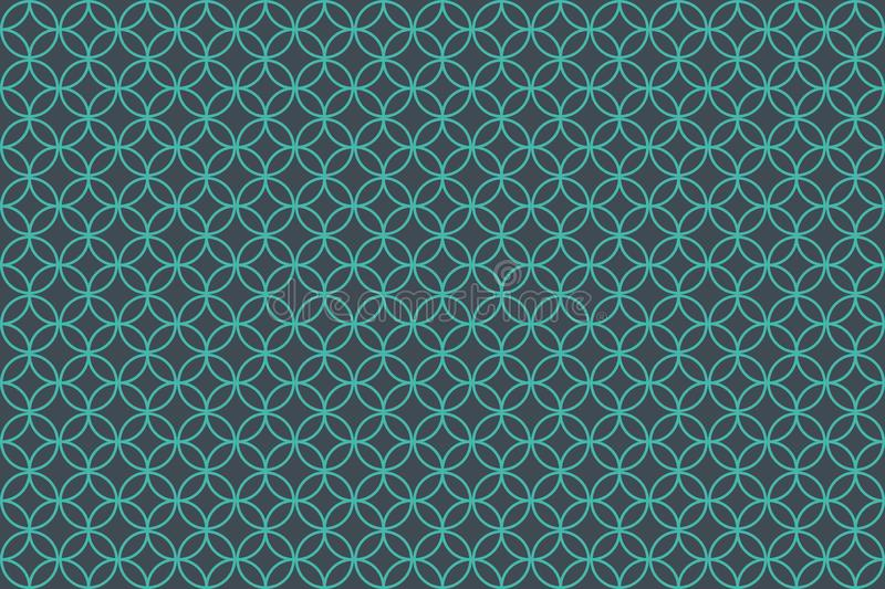 Overlapping circle patterns on green background royalty free illustration