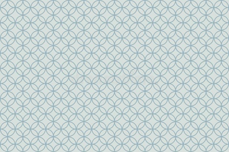 Overlapping circle patterns on light grey background stock illustration