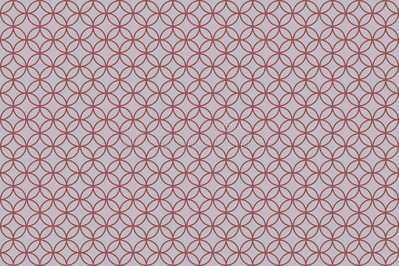 Overlapping circle patterns on light pink background royalty free illustration