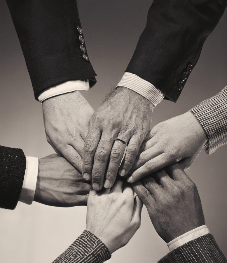 Download Overlapping Executive Hands Stock Photo - Image: 6429460
