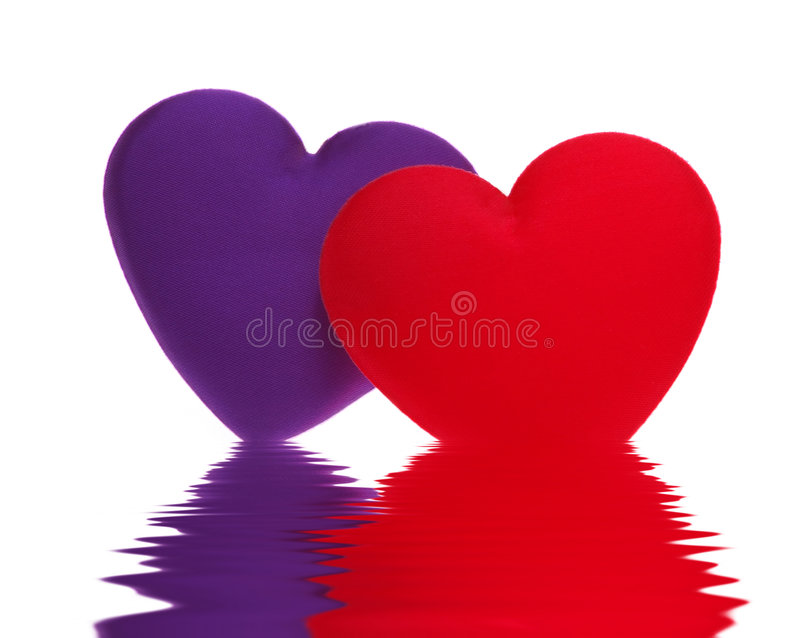 Download Overlapping Hearts stock image. Image of purple, loving - 2305211