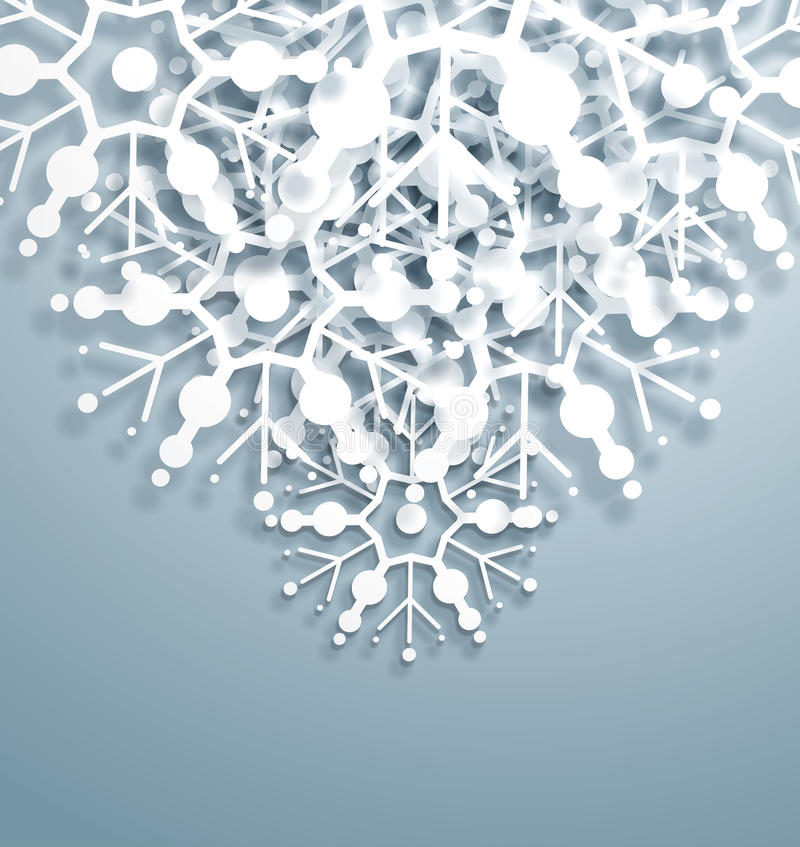 Download Overlapping Snowflakes stock vector. Illustration of christmas - 27587940