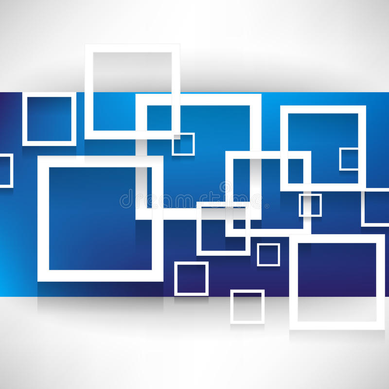 Overlapping squares concept background vector illustration