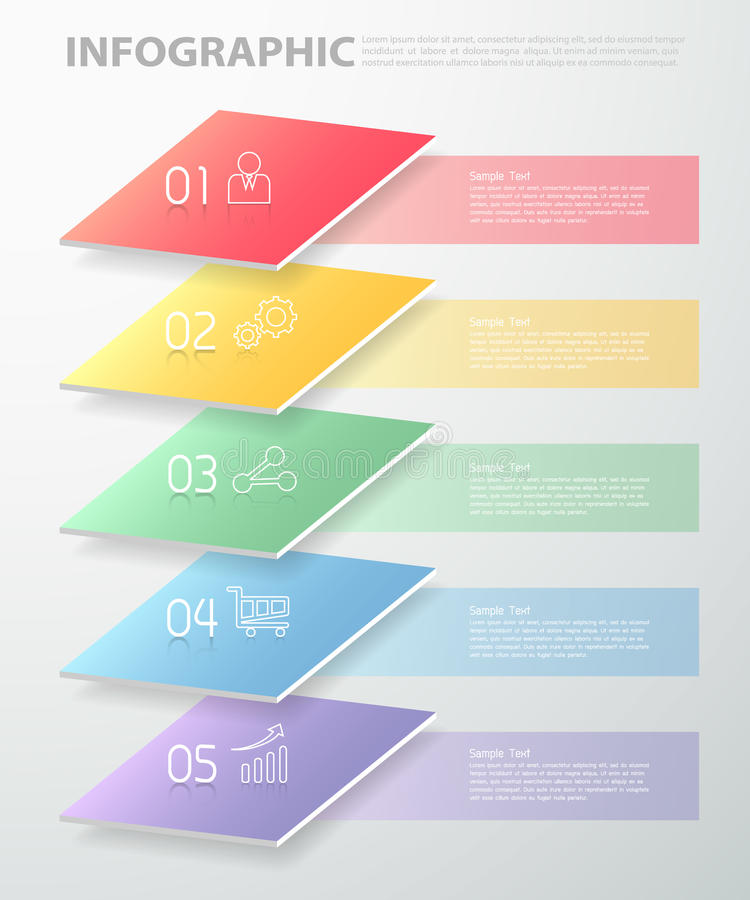 Overlay infographic template . can be used for workflow, layout, diagram. Overlay infographic template . can be used for workflow layout, diagram, number options stock illustration