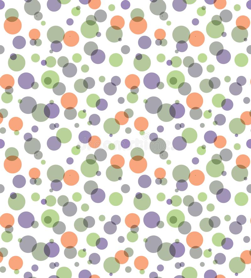 Overlay transparent color circles seamless abstract background. royalty free illustration