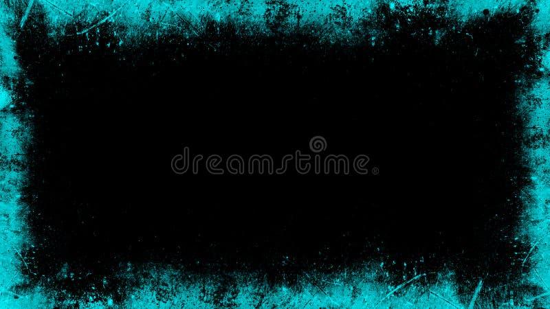 Overlays blue screen border. Vintage old grunge frame texture. Design element. Overlays blue screen border. Vintage old grunge frame texture stock image