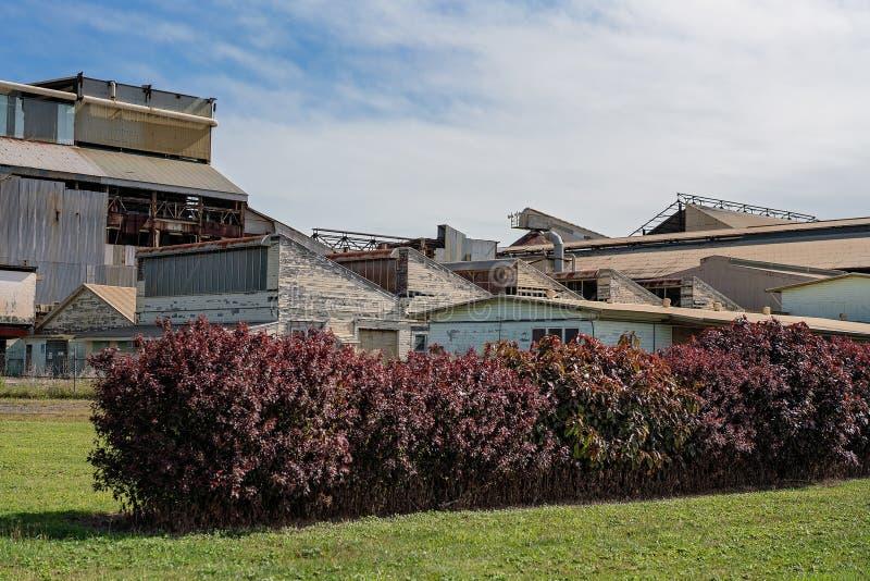 Overledene Australisch Sugar Mill stock foto