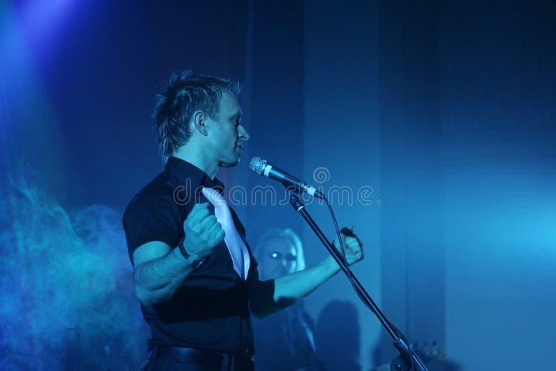 Overleg van Christelijke muzikale band stock foto