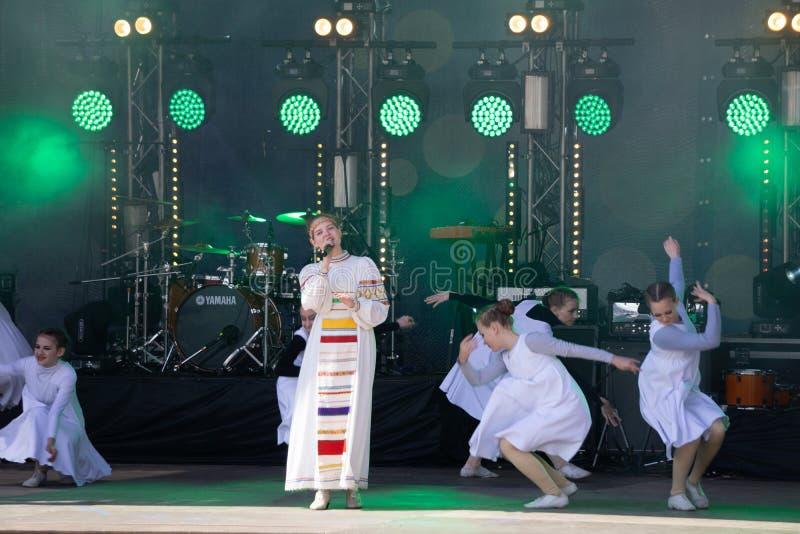 Overleg van de ensemble het Speelnacht op de muziek van de Stadiumjazz E royalty-vrije stock foto