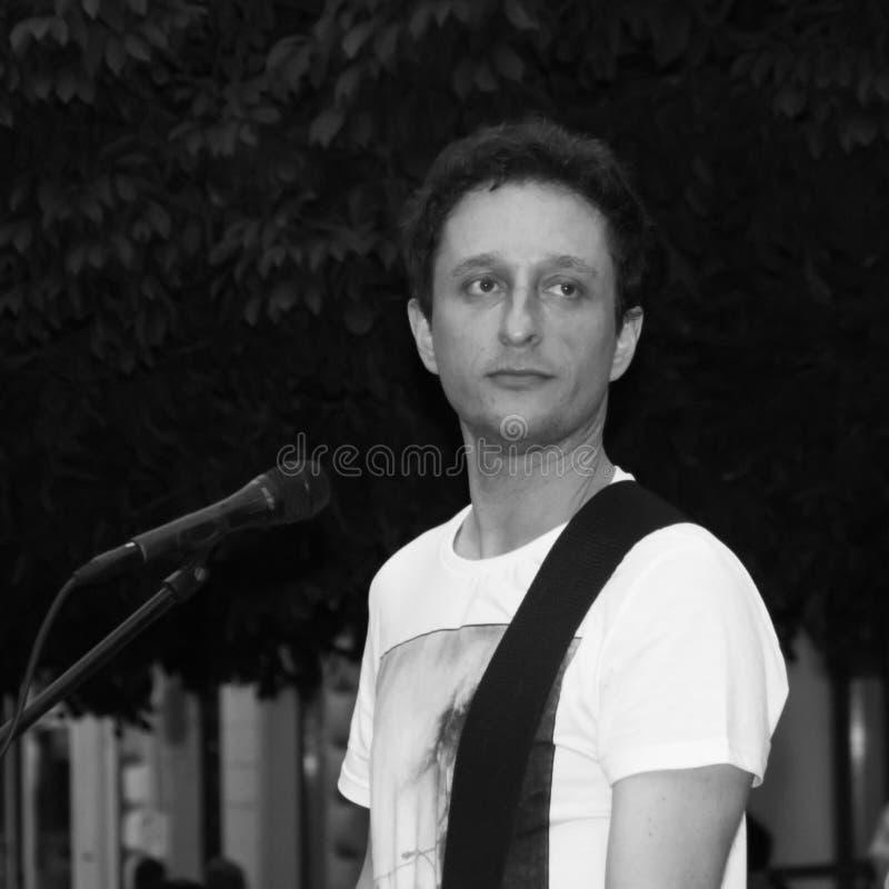 Overleg van Fekete Jeno op Keszthely-Straatfestival stock fotografie