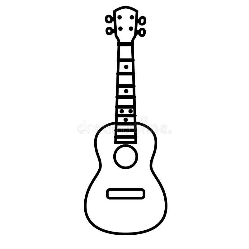 Overlegukelele - Hawaiiaans koord muzikaal instrument vector illustratie