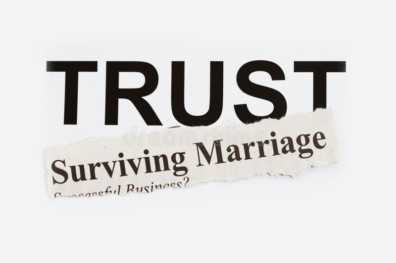 Overlevend huwelijk stock fotografie