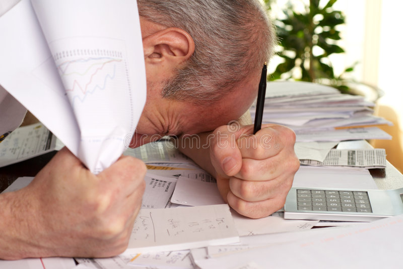 Download Overload stock image. Image of stress, bills, mail, taxes - 8676297