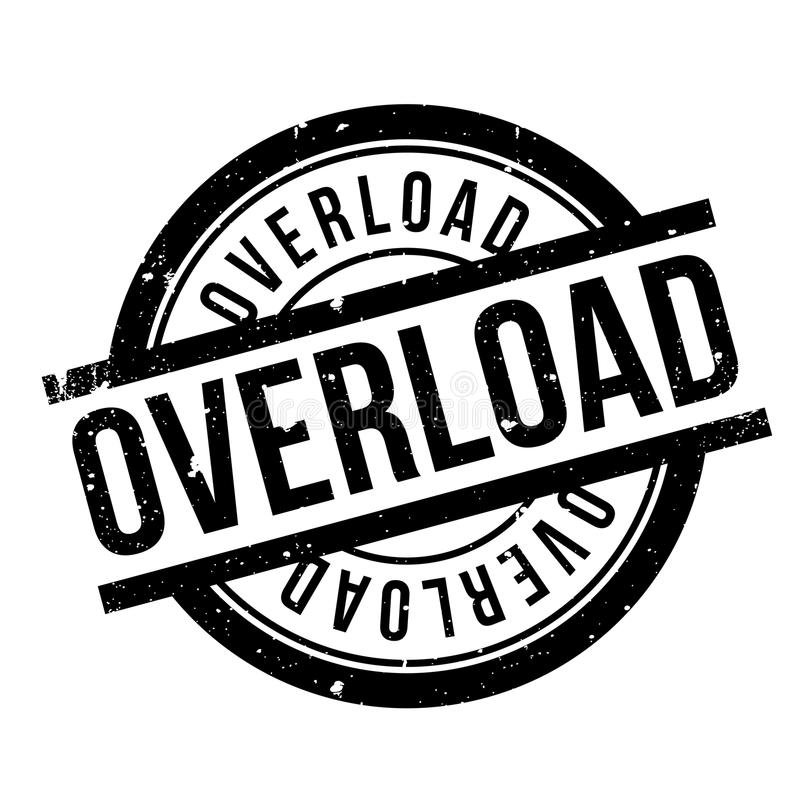 Overload Rubber Stamp Stock Vector Illustration Of Grid 89131750