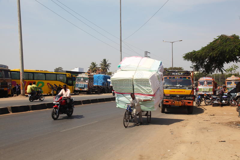 Download Overloaded Bicycle Delivery, India Editorial Photography - Image: 23544542