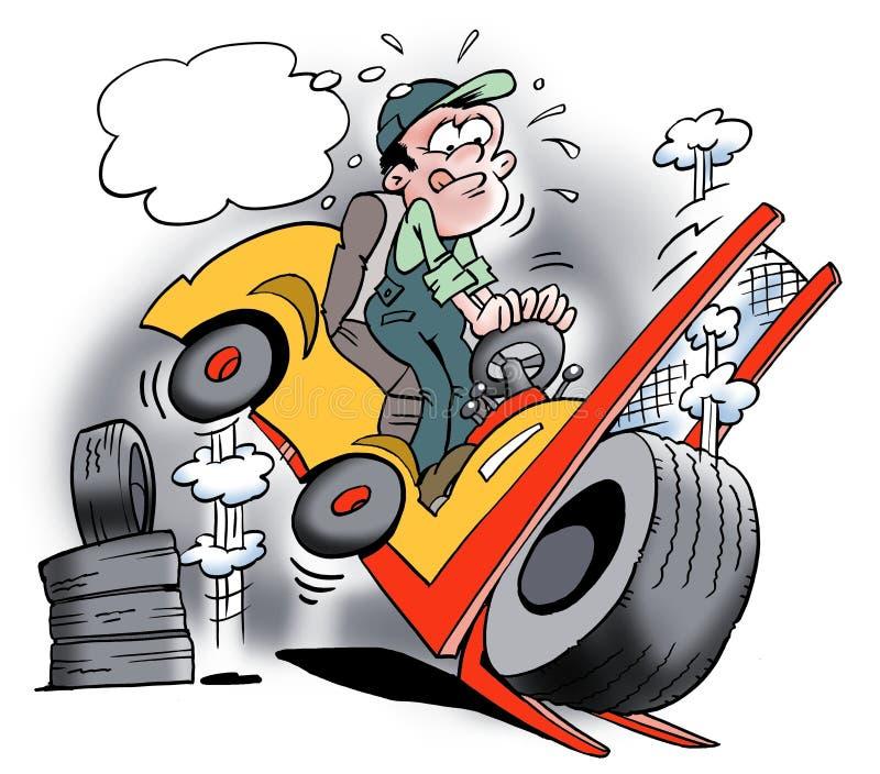 Overloaded ciężarówka ilustracja wektor