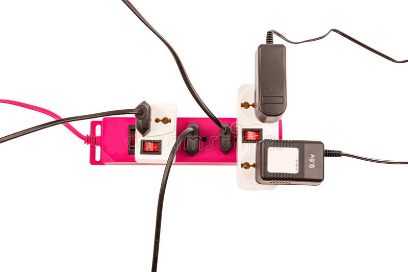Overloaded electric power bar royalty free stock image