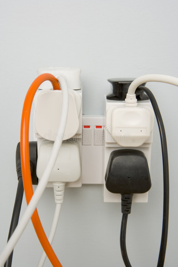 Overloaded Outlet stock photography