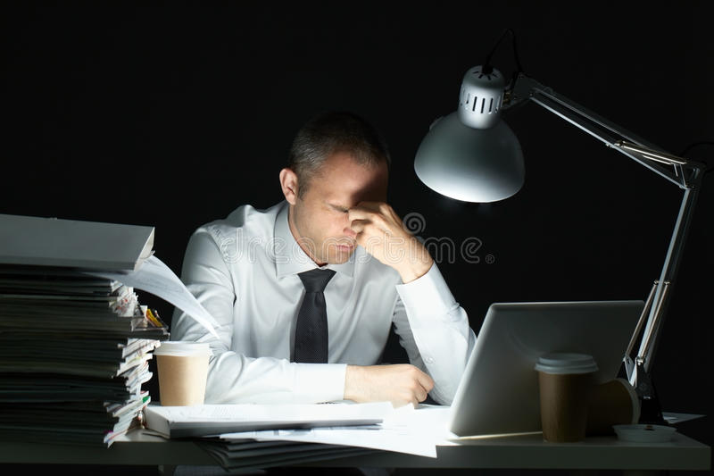 Overloaded with work royalty free stock image