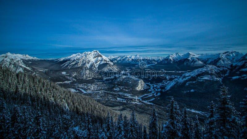 Peak of Sulphur mountain. stock photos