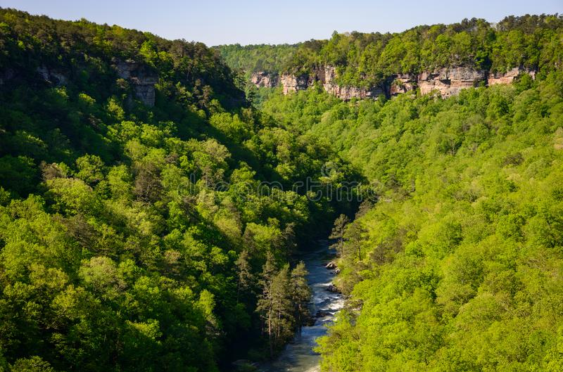 River through the Cliffs at Little River Canyon National Preserve royalty free stock photography