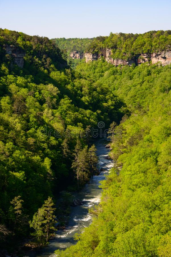 View of the River at Little River Canyon National Preserve stock photos