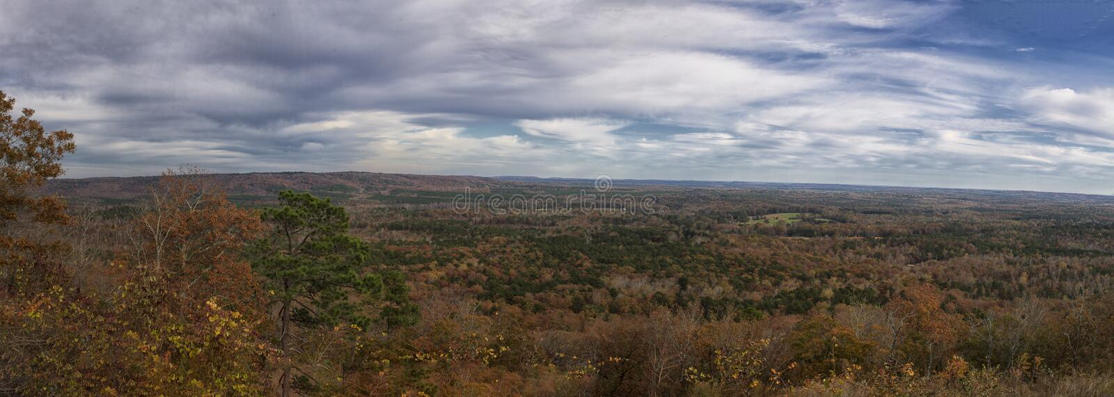 The Overlook of Pine Mountain Valley from Dodwells Knob stock photo