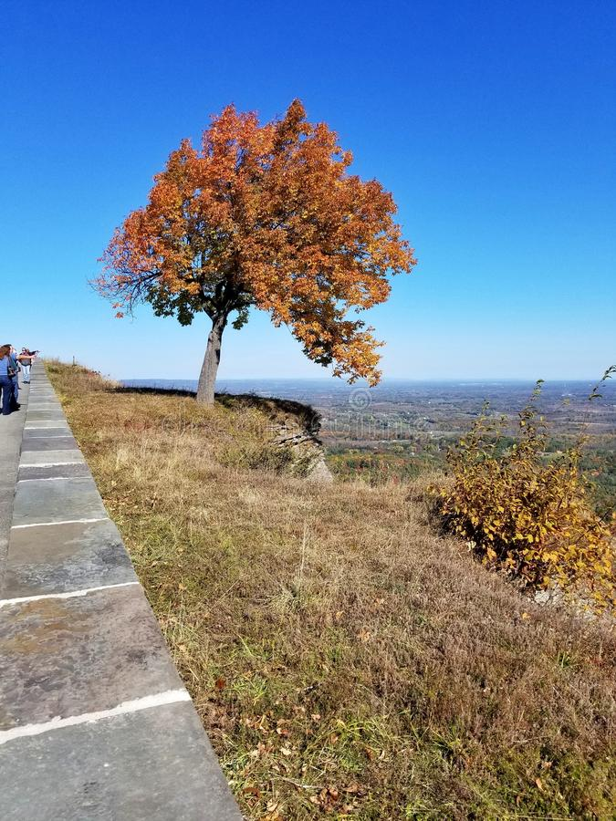 Overlook from Thatcher State Park, Albany, NY, in autumn stock photography