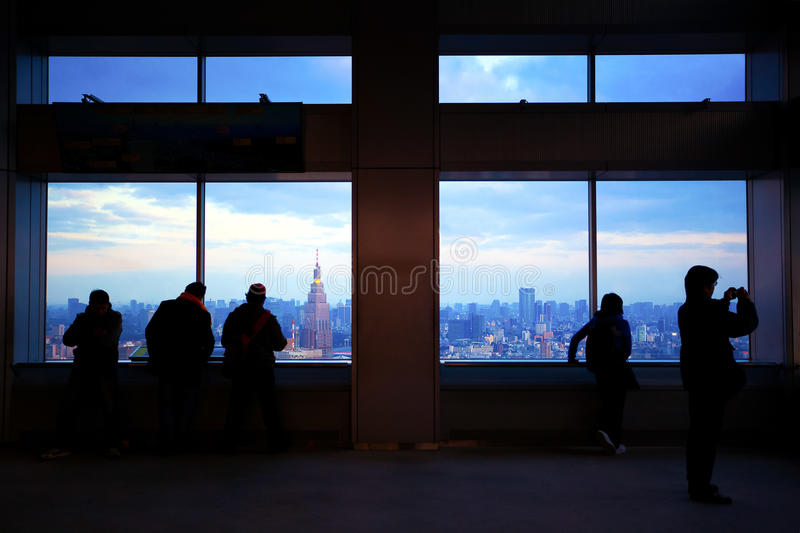 Overlook Tokyo from Tokyo City Hall royalty free stock photography