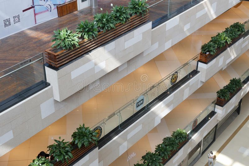 Overlook from the top of china town comprehensive mall. China town comprehensive mall is a large shopping mall in amoy city, china stock image