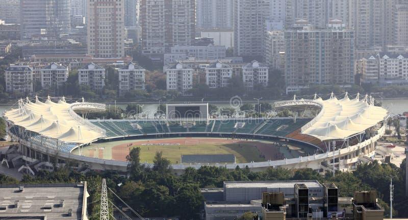 Overlook xiamen stadium, adobe rgb. Overlooking stadium of xiamen city, china stock images