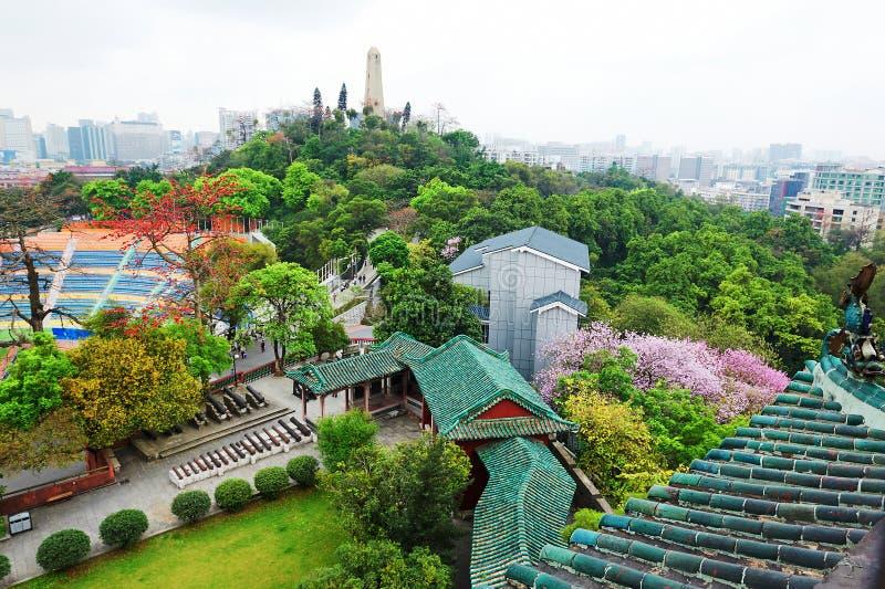 Overlook Yuexiu park stock photo