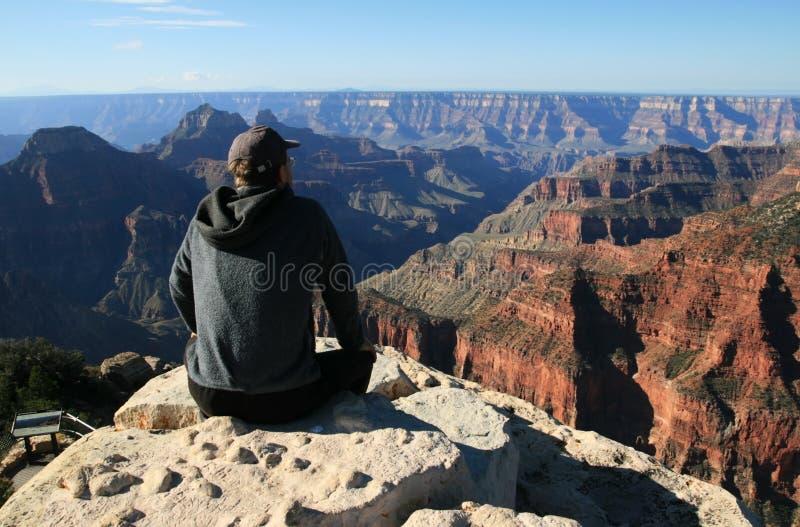 Overlooking canyon stock photo