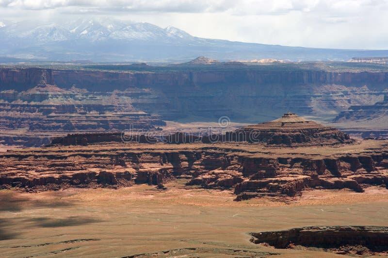 Overlooking Canyonlands National Park stock photos