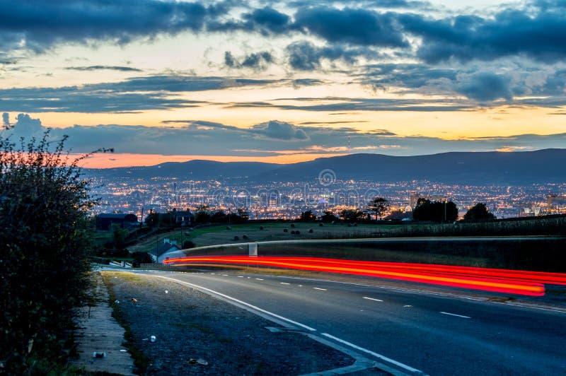 Overlooking the city of Belfast. stock photos