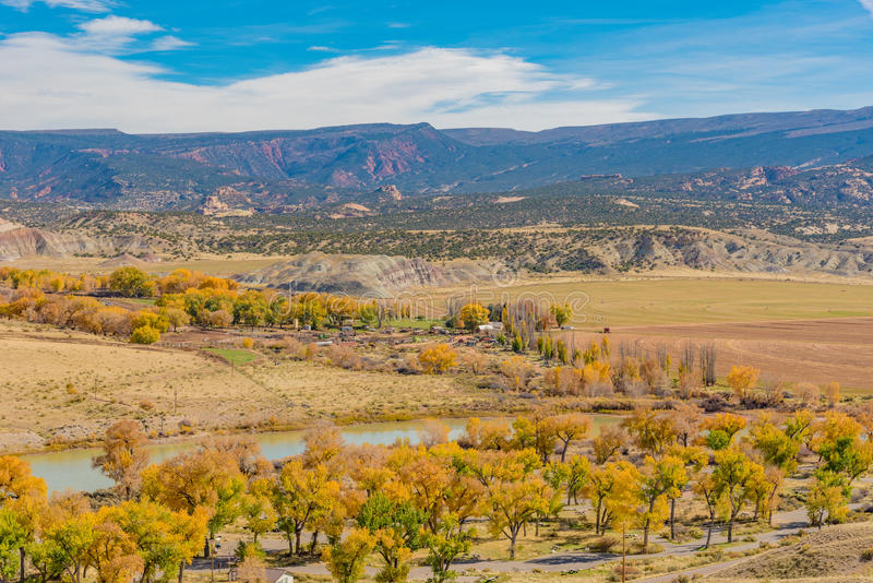 Overlooking Dinosaur National Monument. A viewpoint in Dinosaur National Monument from Cub Creek Road royalty free stock images