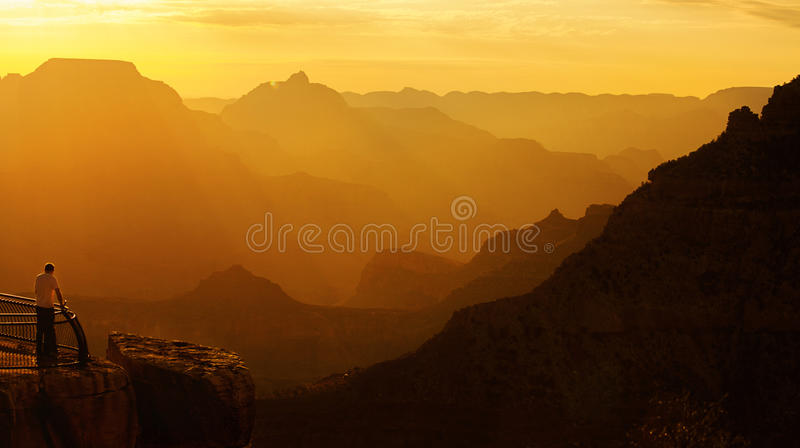 Overlooking Grand Canyon royalty free stock photos