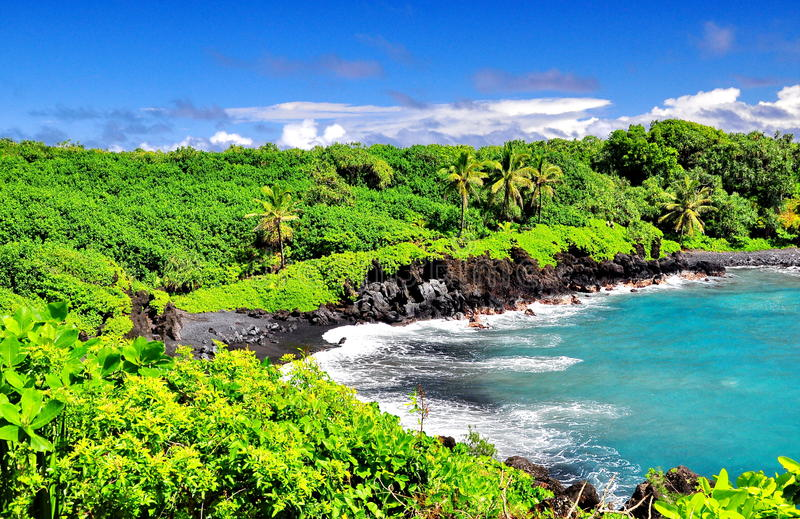 Overlooking Hawaii royalty free stock images