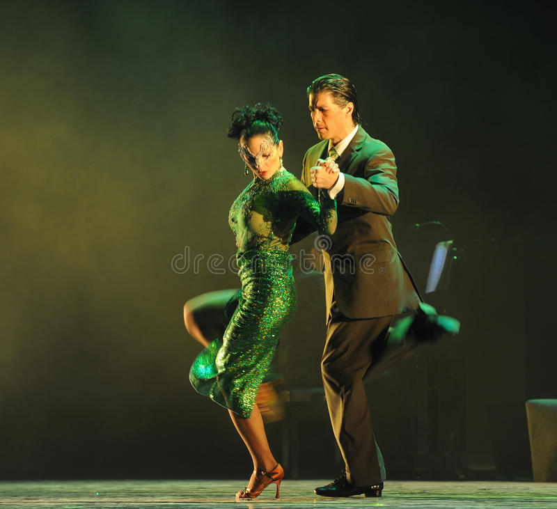Overlooking the-the identity of the mystery-Tango Dance Drama royalty free stock photography