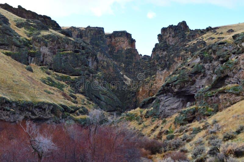 overlooking jump creek canyon Owyhees royalty free stock photo