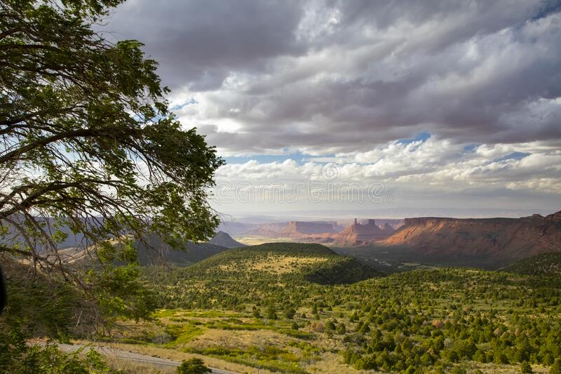 Overlooking Moab Valley in Utah royalty free stock photo