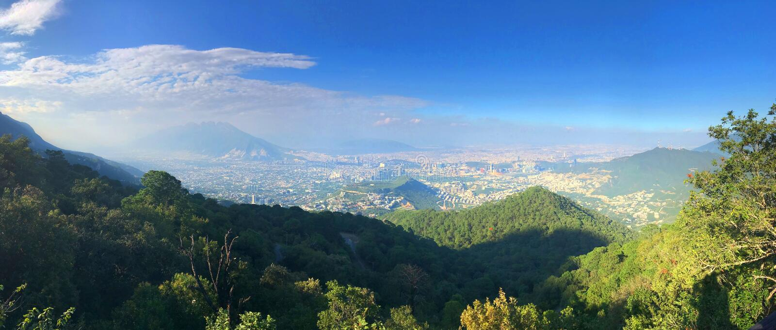 Monterrey Mexico from Parque Ecológico Chipinque. Overlooking Monterrey Mexico from Parque Ecológico Chipinque. Monterrey is a city of over 4 million royalty free stock photography
