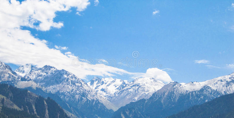 Overlooking the mountains royalty free stock photo