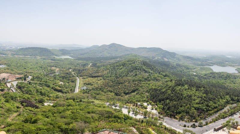 Overlooking Niushou (Cattle head) mountain stock photography