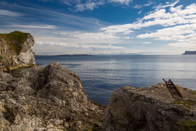 Overlooking the ocean stock photos