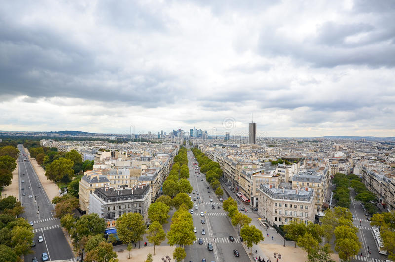 Overlooking Paris on a cloudy day royalty free stock image