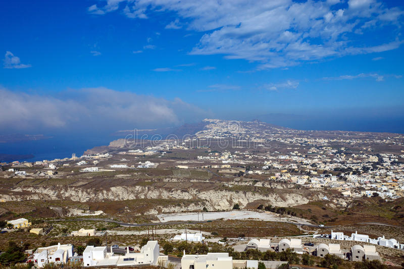 Overlooking Santorini Island Royalty Free Stock Photos