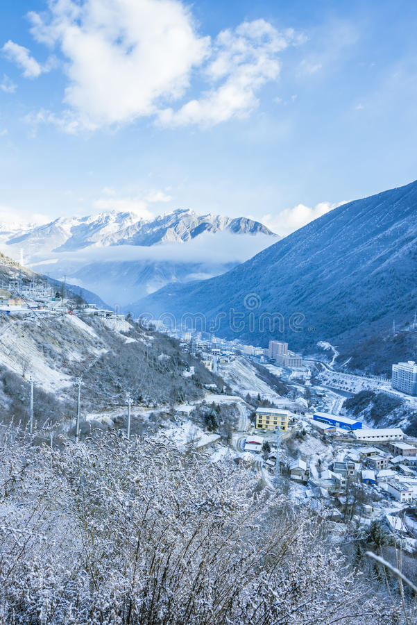 Free Overlooking The Kangding City On A Hill Royalty Free Stock Photo - 67631075