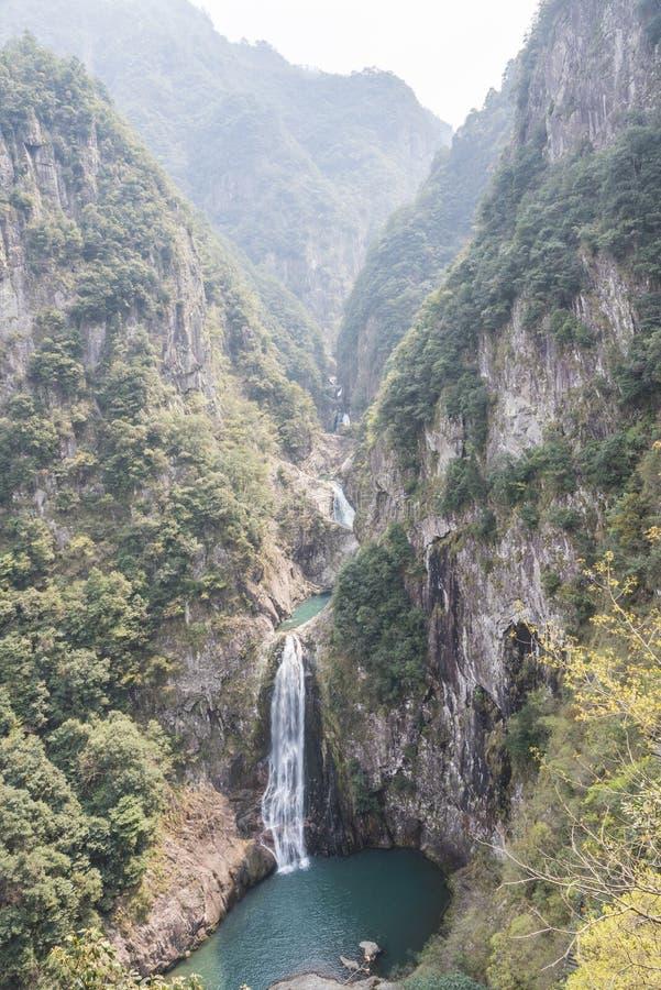 Overlooking the waterfall stock photos